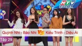 Ngạc Nhiên Chưa | Tập 29 | Quỳnh Nhi - Bảo Nhi vs Kiều Trinh - Diệu Ái | 20/4/2016